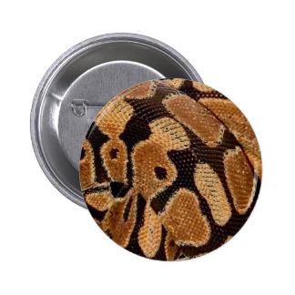 Insignia del botón del pitón de la bola pin redondo de 2 pulgadas