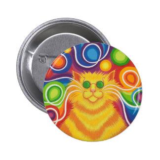insignia del botón del Psy-gato-delic Pin Redondo De 2 Pulgadas