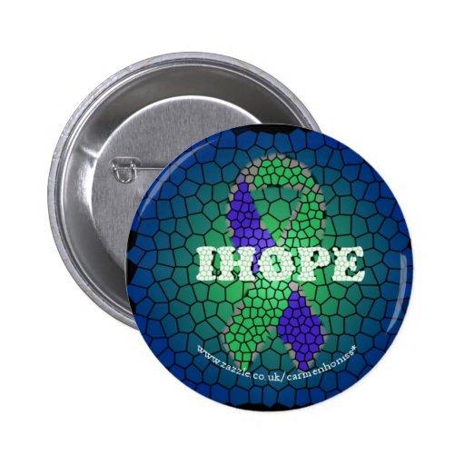 Insignia del botón del vitral de IH