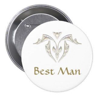 Insignia del botón - el mejor hombre pins