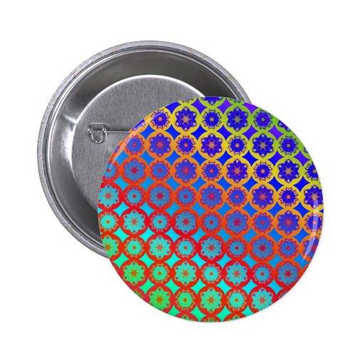 Insignia del botón - modelo del fractal de la mand pin