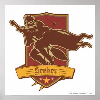 Insignia del buscador de Quidditch Póster