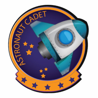Insignia del cadete del astronauta fotoescultura vertical