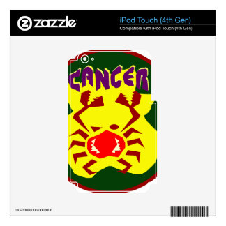 Insignia del cáncer iPod touch 4G skin