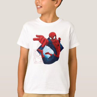 Insignia del carácter de la acción de Spider-Man Playera