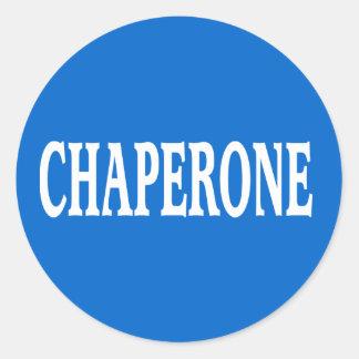 Insignia del Chaperone Pegatina Redonda