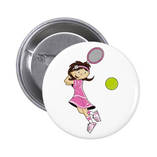 Insignia del chica del tenis pin