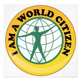 Insignia del ciudadano del mundo por autoridad de fotografías