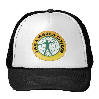 Insignia del ciudadano del mundo por autoridad de  gorra