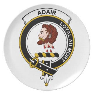 Insignia del clan de Adair Plato Para Fiesta