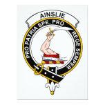 Insignia del clan de Ainslie Invitación 16,5 X 22,2 Cm