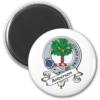 Insignia del clan de Anderson Imán Redondo 5 Cm