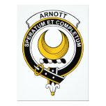 Insignia del clan de Arnott Invitación 16,5 X 22,2 Cm