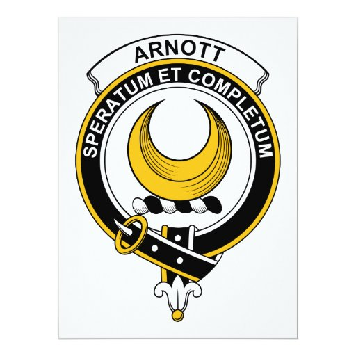 """Insignia del clan de Arnott Invitación 6.5"""" X 8.75"""""""