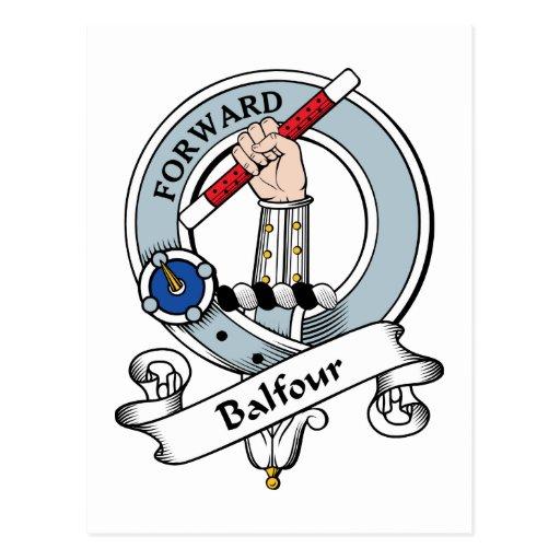 Insignia del clan de Balfour Tarjeta Postal