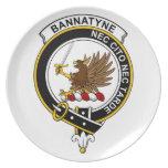 Insignia del clan de Bannatyne Plato De Comida