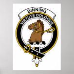 Insignia del clan de Binning Poster