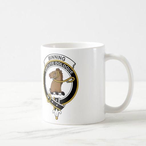 Insignia del clan de Binning Tazas De Café