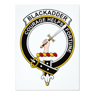 """Insignia del clan de Blackadder Invitación 6.5"""" X 8.75"""""""
