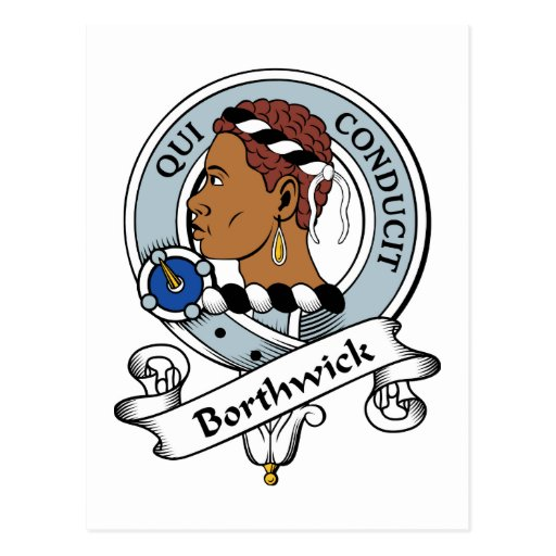 Insignia del clan de Borthwick Tarjeta Postal