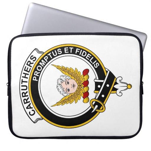 Insignia del clan de Carruthers Fundas Portátiles