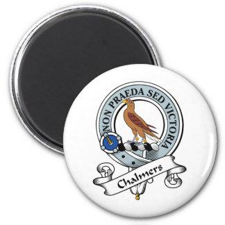 Insignia del clan de Chalmers Imán Redondo 5 Cm