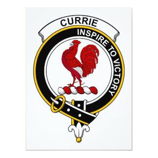 """Insignia del clan de Currie Invitación 6.5"""" X 8.75"""""""