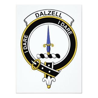 """Insignia del clan de Dalzell Invitación 6.5"""" X 8.75"""""""