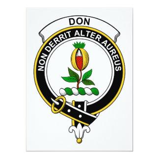 """Insignia del clan de Don Invitación 6.5"""" X 8.75"""""""