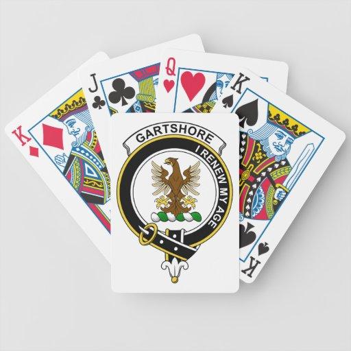 Insignia del clan de Gartshore Baraja Cartas De Poker
