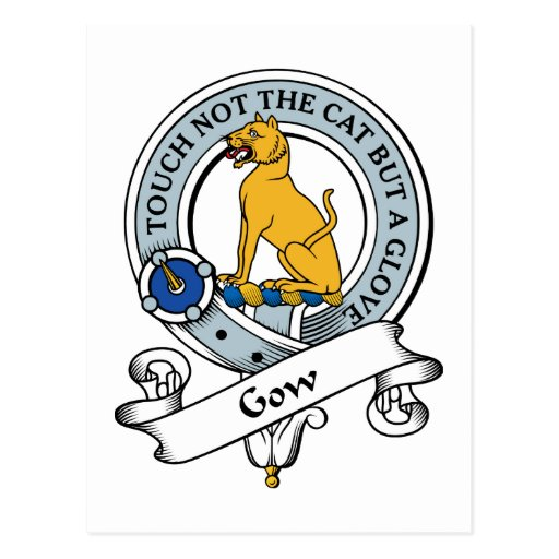 Insignia del clan de Gow Tarjeta Postal