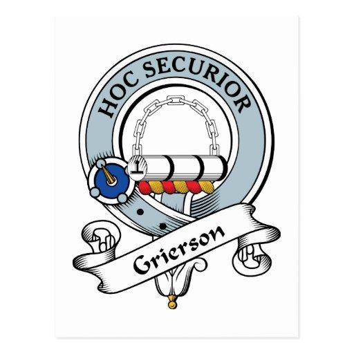 Insignia del clan de Grierson Postal
