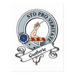 Insignia del clan de Guthrie Tarjeta Postal