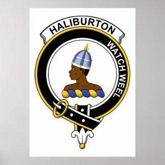 Insignia del clan de Haliburton Posters
