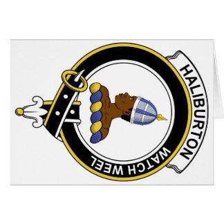 Insignia del clan de Haliburton Tarjeton