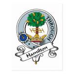 Insignia del clan de Hamilton Postal