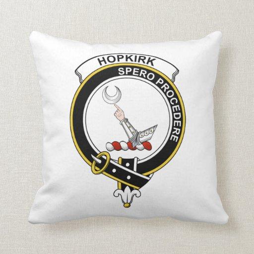 Insignia del clan de Hopkirk Almohada