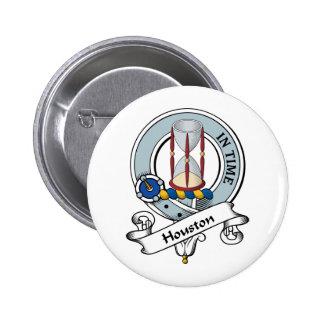 Insignia del clan de Houston Pin Redondo De 2 Pulgadas