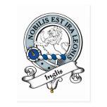 Insignia del clan de Inglis Tarjeta Postal