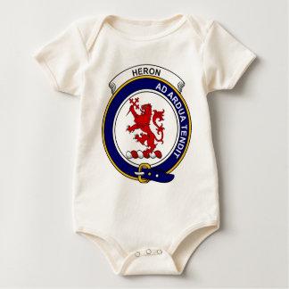 Insignia del clan de la garza traje de bebé