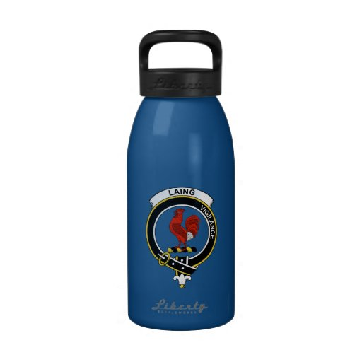 Insignia del clan de Laing Botella De Agua Reutilizable
