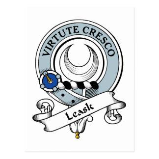 Insignia del clan de Leask Tarjeta Postal
