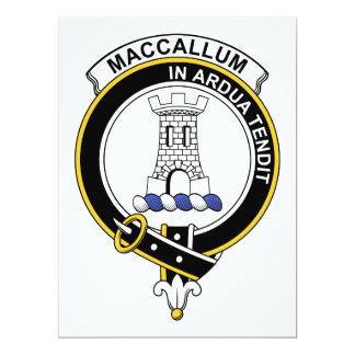 Insignia del clan de MacCallum Invitación 16,5 X 22,2 Cm
