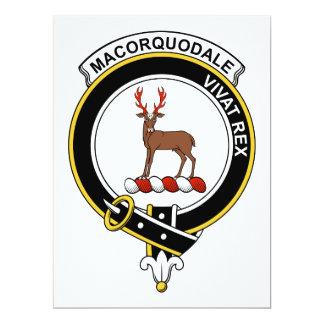 """Insignia del clan de MacCorquodale Invitación 6.5"""" X 8.75"""""""