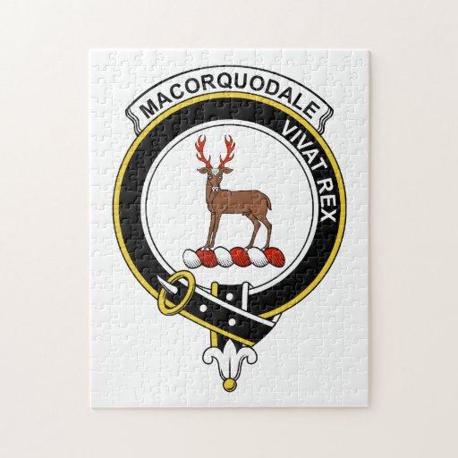 Insignia del clan de MacCorquodale Puzzle Con Fotos