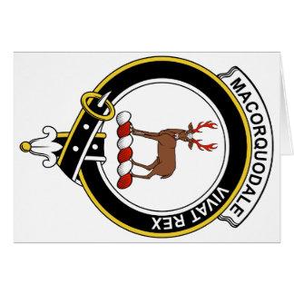 Insignia del clan de MacCorquodale Tarjeta De Felicitación