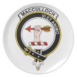 Insignia del clan de MacCulloch Platos De Comidas