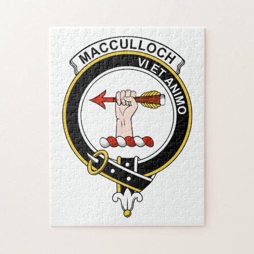 Insignia del clan de MacCulloch Rompecabezas Con Fotos