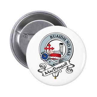 Insignia del clan de MacDougall Pin Redondo De 2 Pulgadas