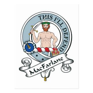 Insignia del clan de MacFarlane Tarjeta Postal